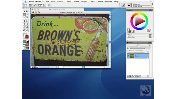 rotating and flipping images: Getting Started with Corel Painter IX
