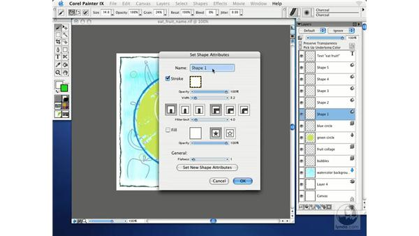naming layers: Getting Started with Corel Painter IX