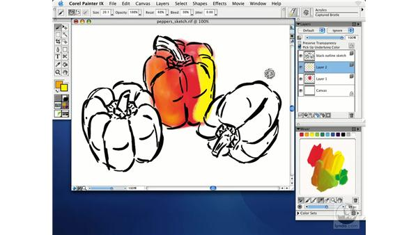 painting with pick up underlying color: Getting Started with Corel Painter IX