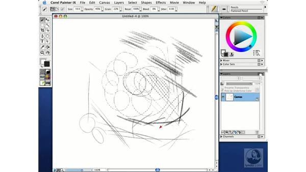 sketching basics: Getting Started with Corel Painter IX