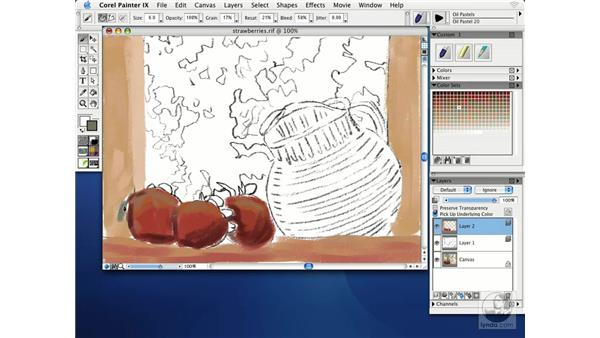sketching with chalks: Getting Started with Corel Painter IX