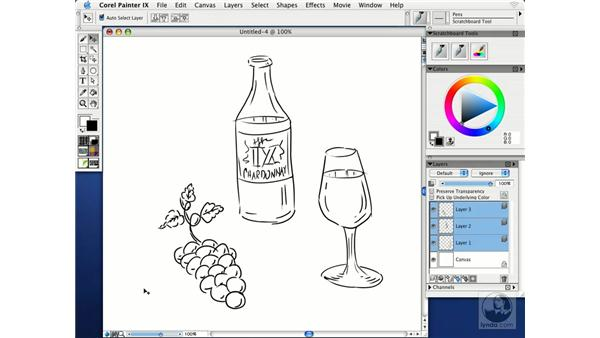 sketching with the scratchboard tool: Getting Started with Corel Painter IX