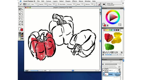 painting with artists' oils: Getting Started with Corel Painter IX