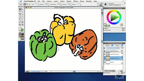 painting with liquid ink: Getting Started with Corel Painter IX