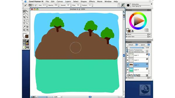painting with airbrushes: Getting Started with Corel Painter IX