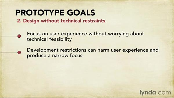 Defining prototype goals: Foundations of UX: Prototyping
