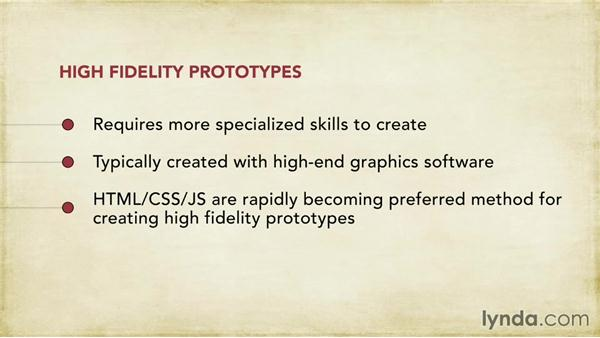 High-fidelity prototypes: Foundations of UX: Prototyping