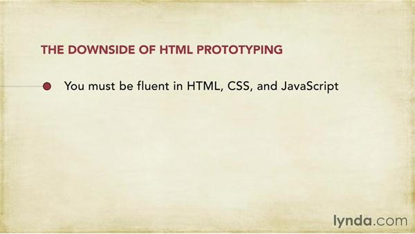 HTML prototypes: Foundations of UX: Prototyping