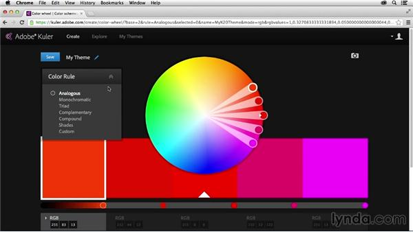 Touring the Kuler interface: Adobe Color CC Essential Training
