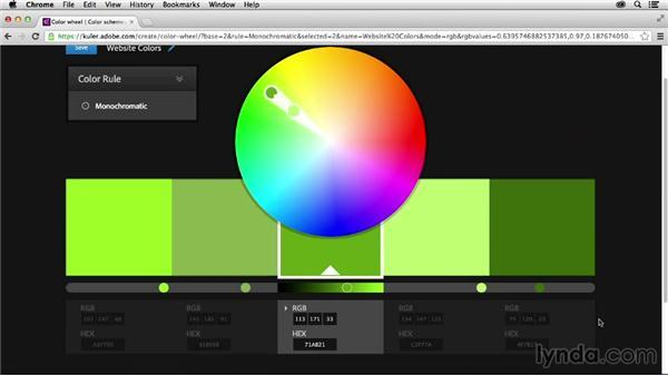 Creating a basic theme: Adobe Color CC Essential Training