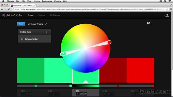 Exploring color rules: Adobe Color CC Essential Training