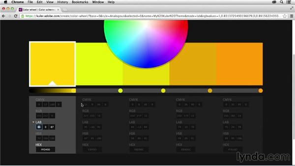 Specifying color values: Adobe Color CC Essential Training