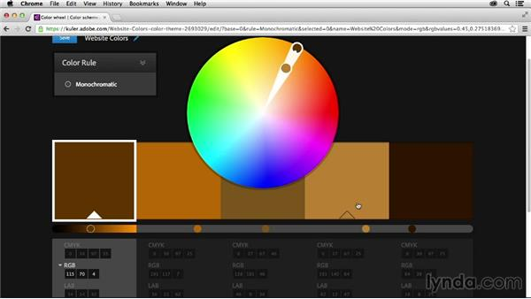 Editing your theme: Adobe Color CC Essential Training