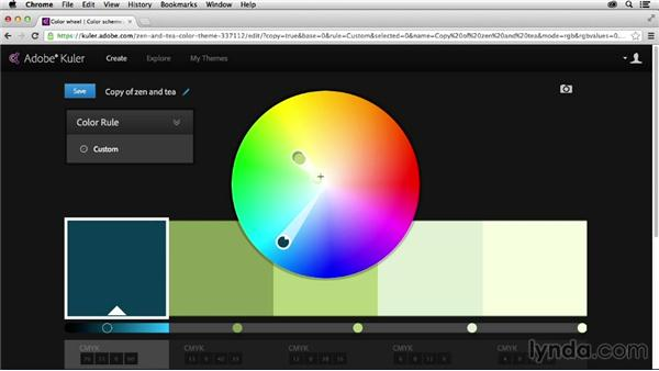Saving and editing existing themes: Adobe Color CC Essential Training