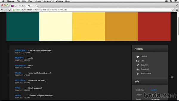 Rating themes: Adobe Color CC Essential Training