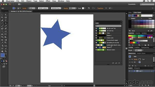 Using Kuler in Illustrator CC: Adobe Color CC Essential Training