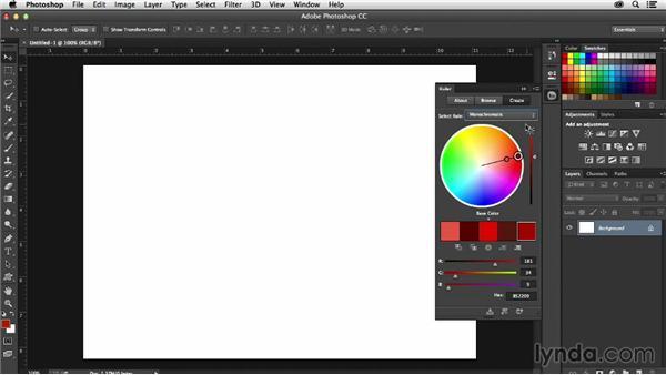 Using Kuler in Photoshop CC: Adobe Color CC Essential Training