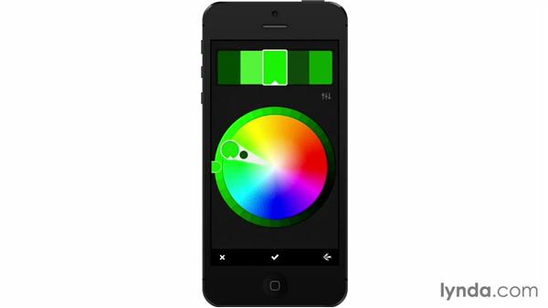 Using the mobile color wheel: Adobe Color CC Essential Training