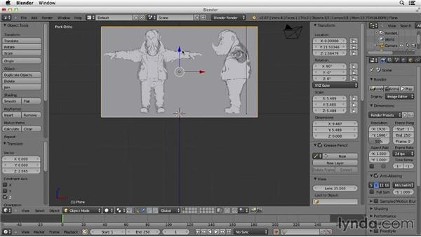 Creating image planes: Character Modeling in Blender