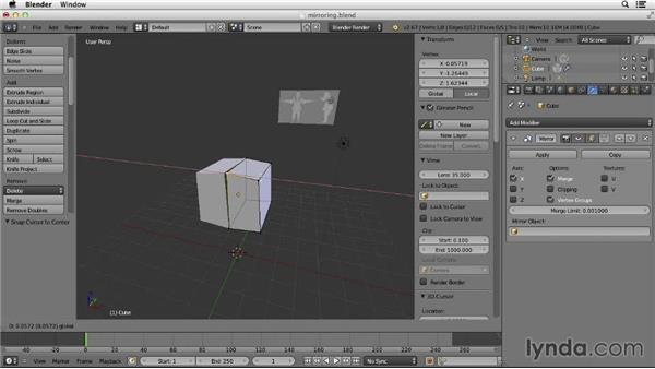 Mirroring a model: Character Modeling in Blender