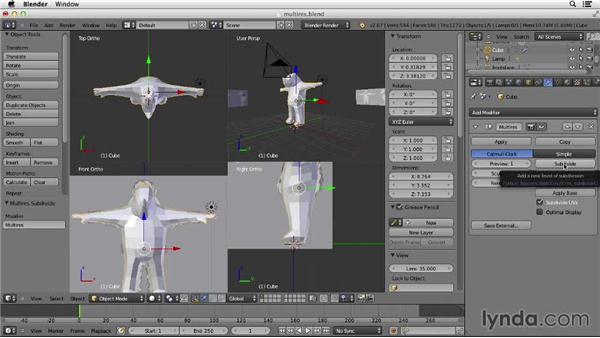 Using the Multiresolution modifier: Character Modeling in Blender