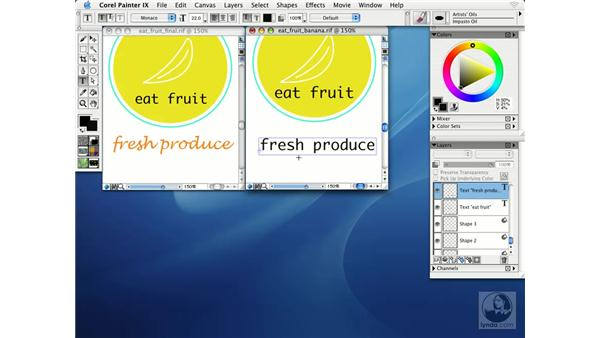 working with type: Getting Started with Corel Painter IX