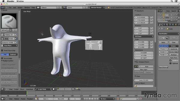 Using Sculpt mode: Character Modeling in Blender