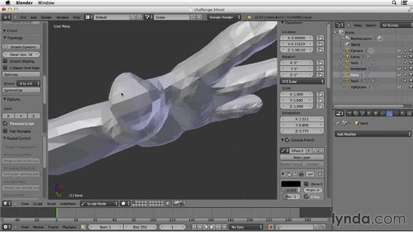 Solution: Sculpt hand solution: Character Modeling in Blender