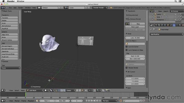 Setting up for retopology: Character Modeling in Blender