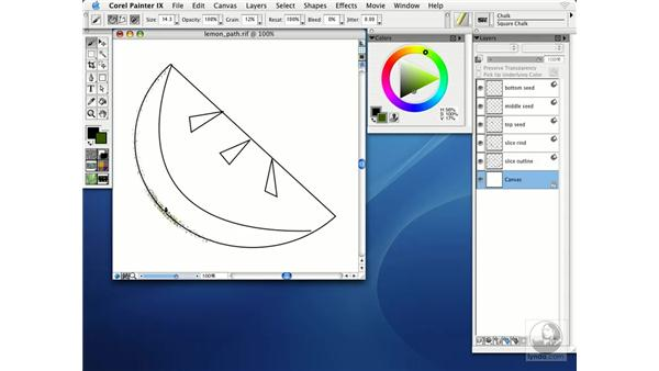 painting with snap to path: Getting Started with Corel Painter IX