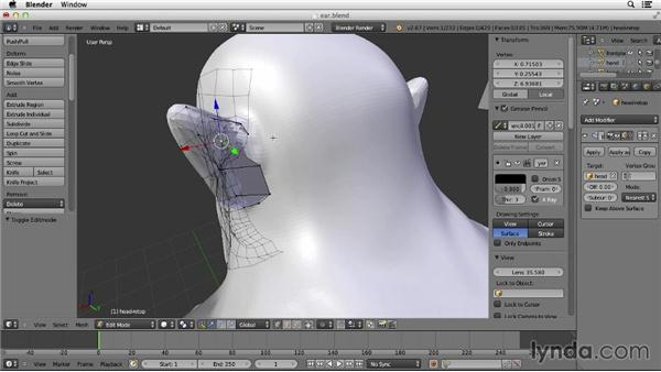 Working on the ears: Character Modeling in Blender