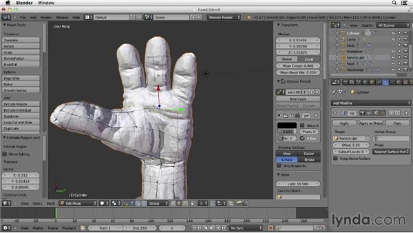 Solution: Retopologize hand solution: Character Modeling in Blender