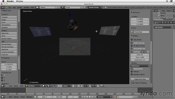 Mirroring the head: Character Modeling in Blender