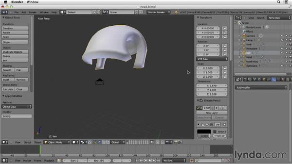 Making the hair: Character Modeling in Blender