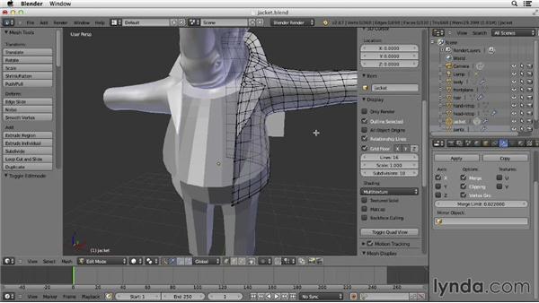 Adjusting the clothes: Character Modeling in Blender