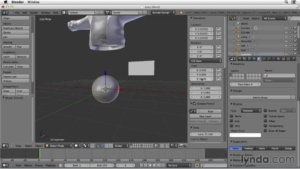 Making the eyes: Character Modeling in Blender