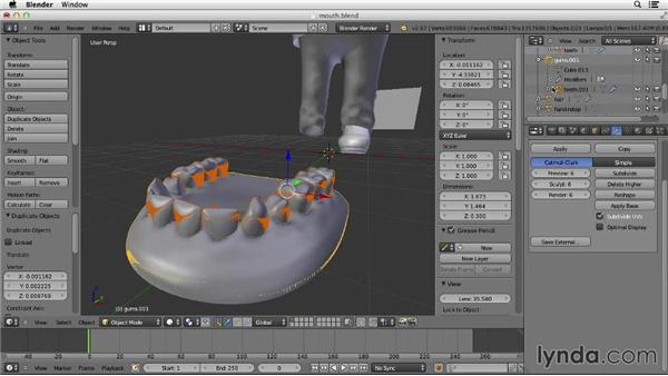 Working on the inner mouth: Character Modeling in Blender