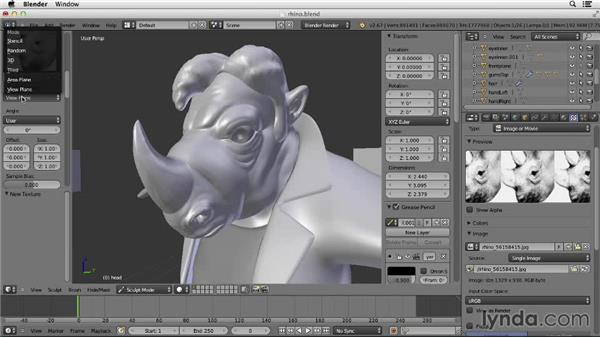 Sculpting with stencils: Character Modeling in Blender