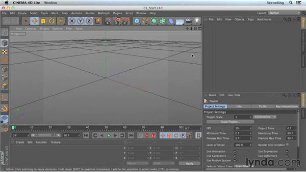 Opening CINEMA 4D Lite in After Effects: CINEMA 4D Lite for After Effects: Getting Started