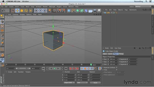 Quick interface tour: CINEMA 4D Lite for After Effects: Getting Started