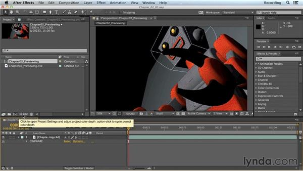 After Effects project settings: CINEMA 4D Lite for After Effects: Getting Started