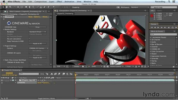 After Effects previewing tips: CINEMA 4D Lite for After Effects: Getting Started