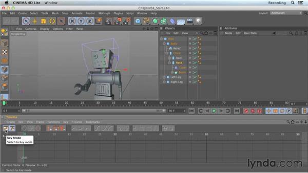Timeline shortcuts: CINEMA 4D Lite for After Effects: Getting Started