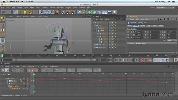 Keyframe interpolation: CINEMA 4D Lite for After Effects: Getting Started