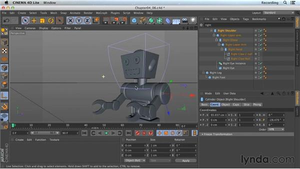 Using XPresso to link properties: Part one: CINEMA 4D Lite for After Effects: Getting Started