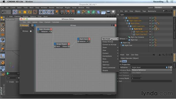 Using XPresso to link properties: Part two: CINEMA 4D Lite for After Effects: Getting Started