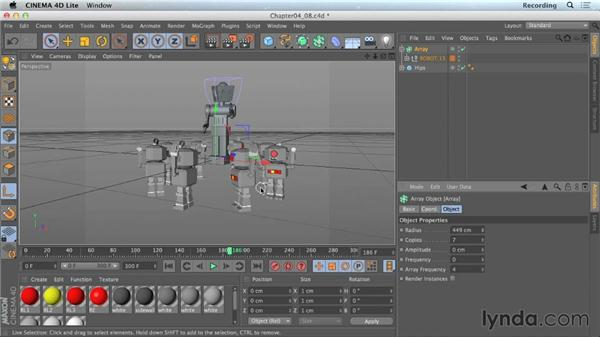 Importing existing animations into CINEMA 4D Lite: CINEMA 4D Lite for After Effects: Getting Started
