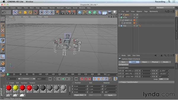 Animating cameras in CINEMA 4D Lite: CINEMA 4D Lite for After Effects: Getting Started