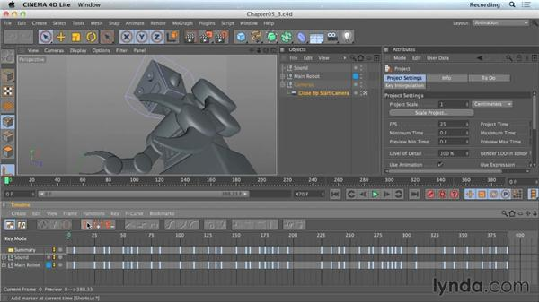Adding markers: CINEMA 4D Lite for After Effects: Getting Started