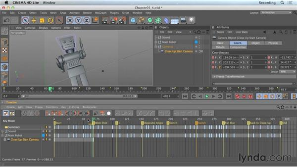 Creating multiple cameras in CINEMA 4D Lite: CINEMA 4D Lite for After Effects: Getting Started